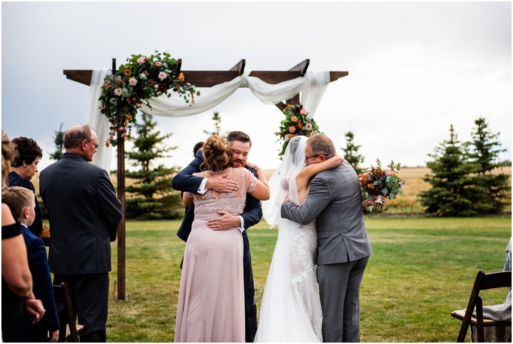 Sweet Haven Barn Wedding Ceremony Photos - Fall Outdoor Wedding