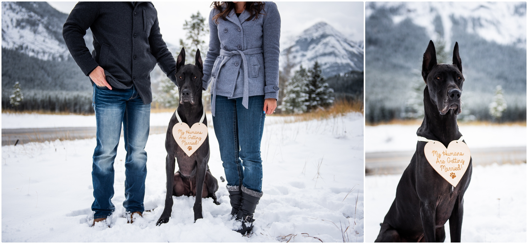 Wedge Pond Mountain Winter Engagement Photographers