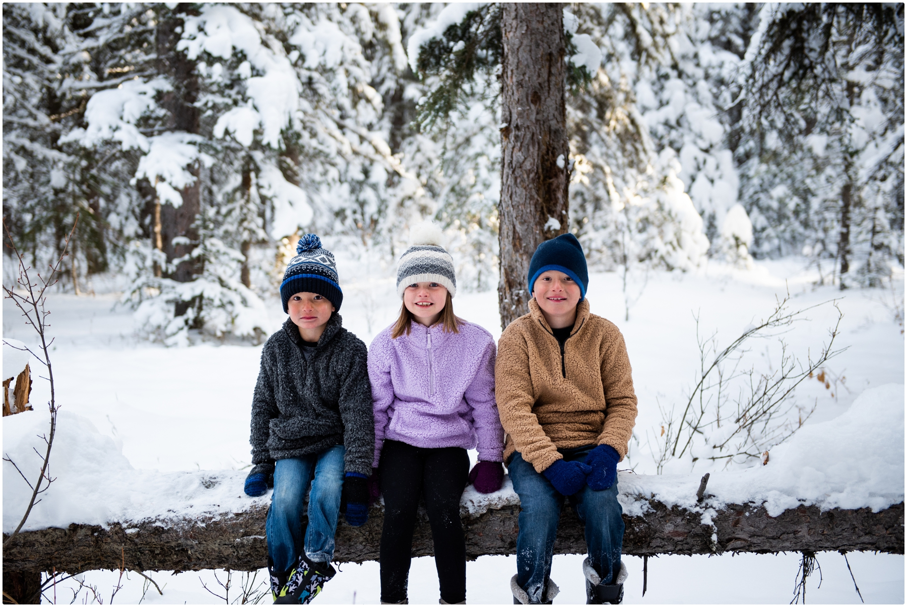 Winter Bragg Creek Family Photography