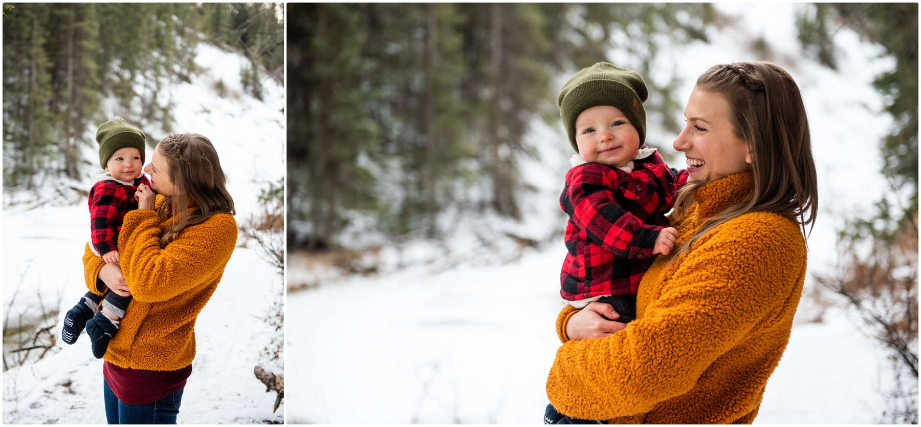 Calgary Winter Family Session With Mom