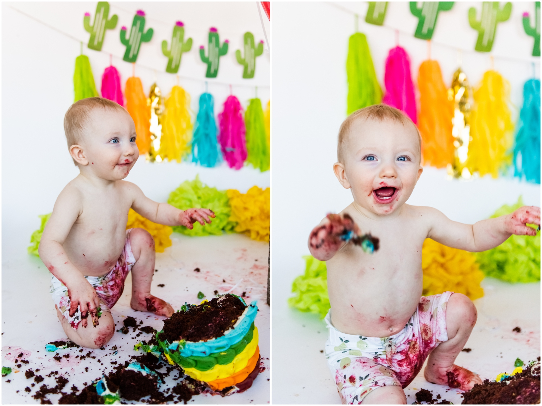 Calgary 1st Birthday Cake Smash Photographer