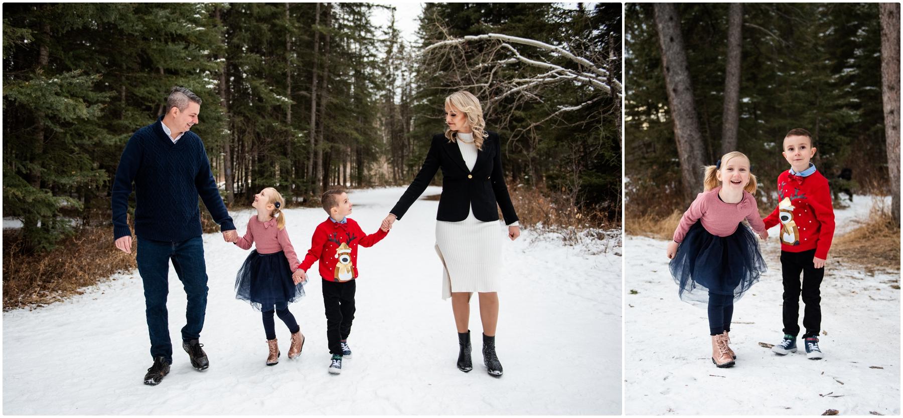 Calgary Alberta Winter Family Photos - Bebo Grove
