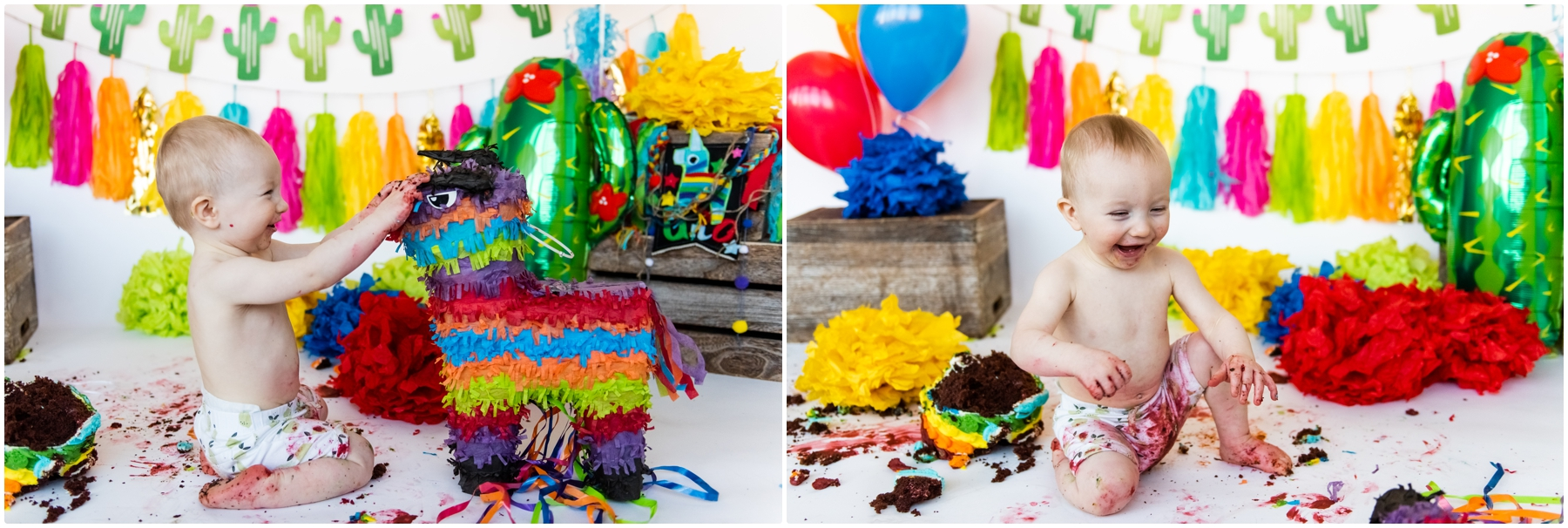Calgary First Birthday Cake Smash Photography
