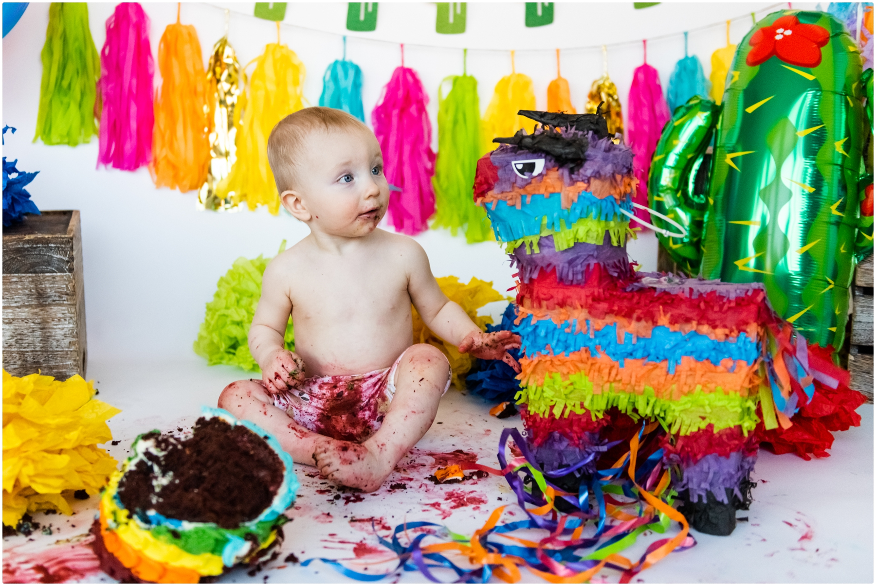 Calgary First Birthday Cake Smash