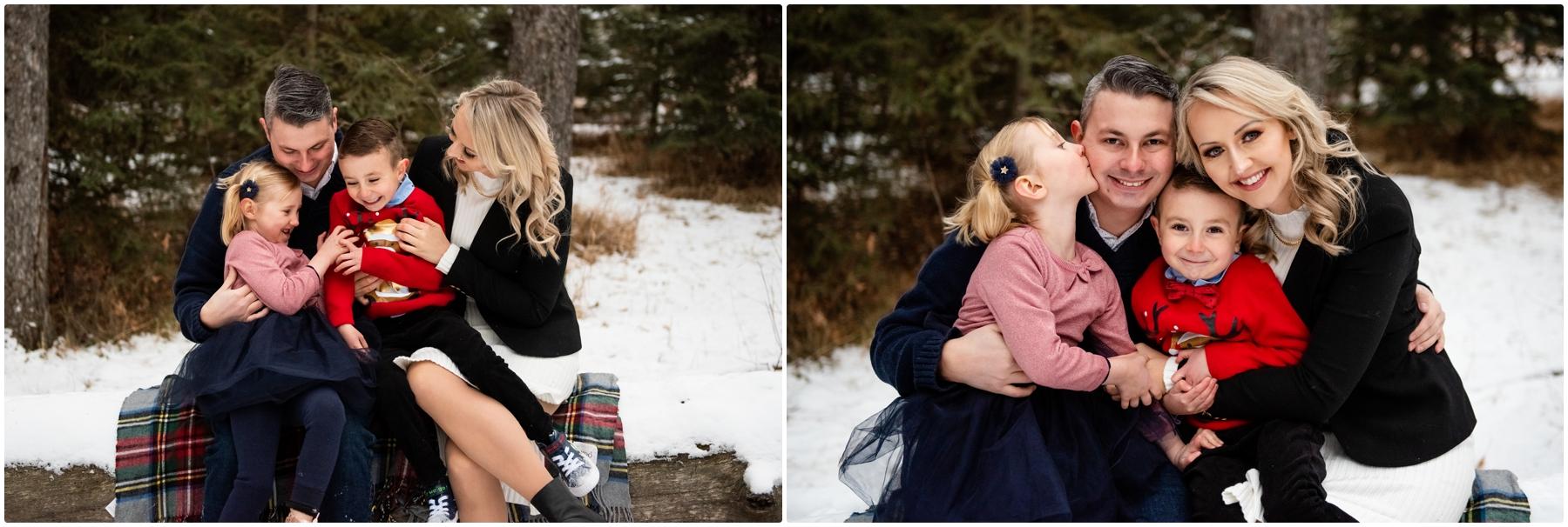 Calgary Winter Family Photographer - Bebo Grove Fish Creek Park.