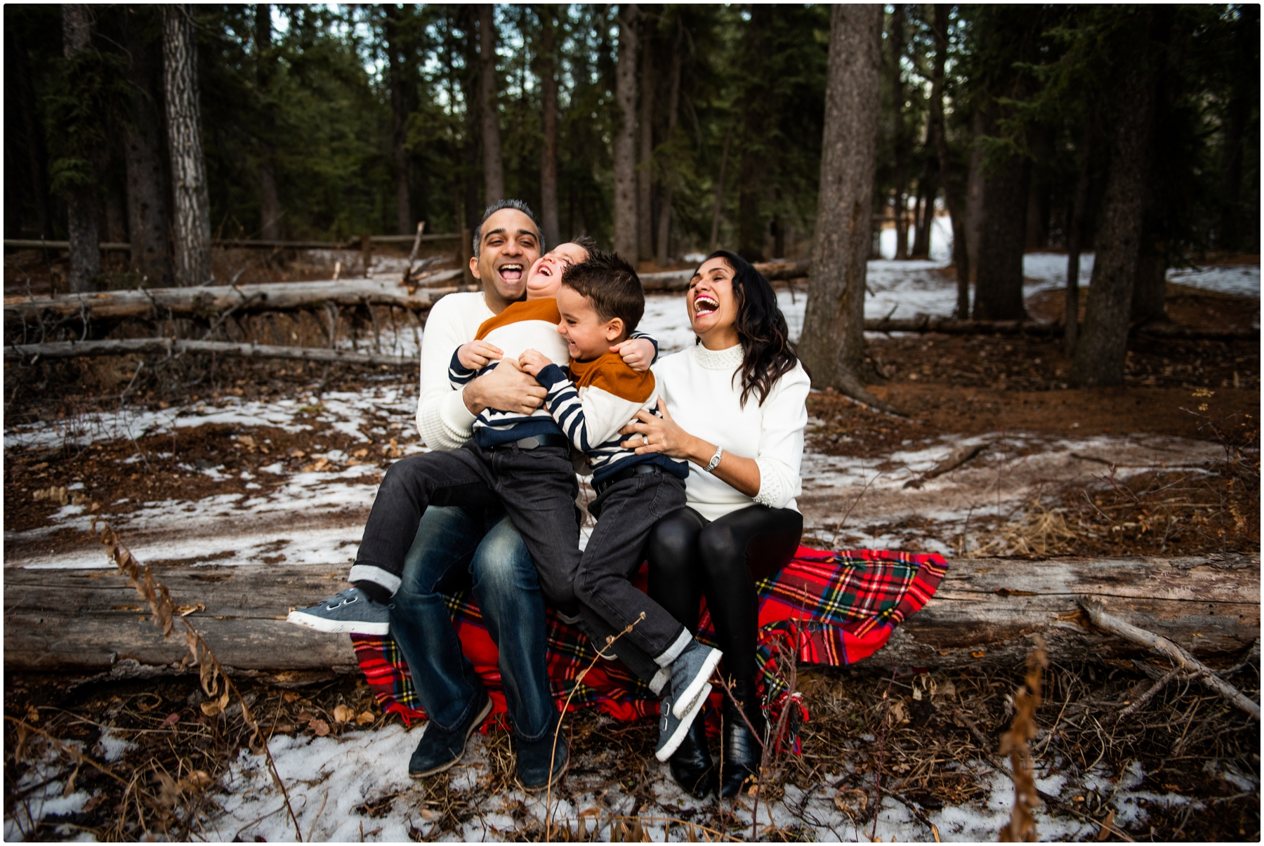 Calgary Winter Family Session Photos