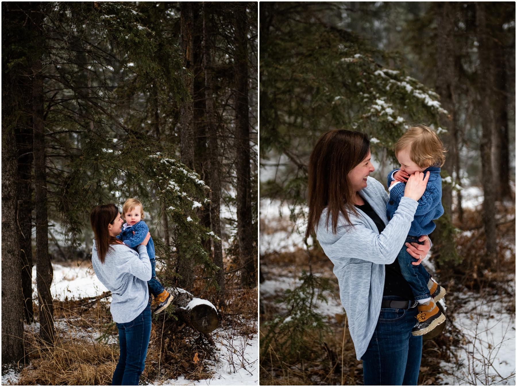 Calgary Winter Woodland Family Photos