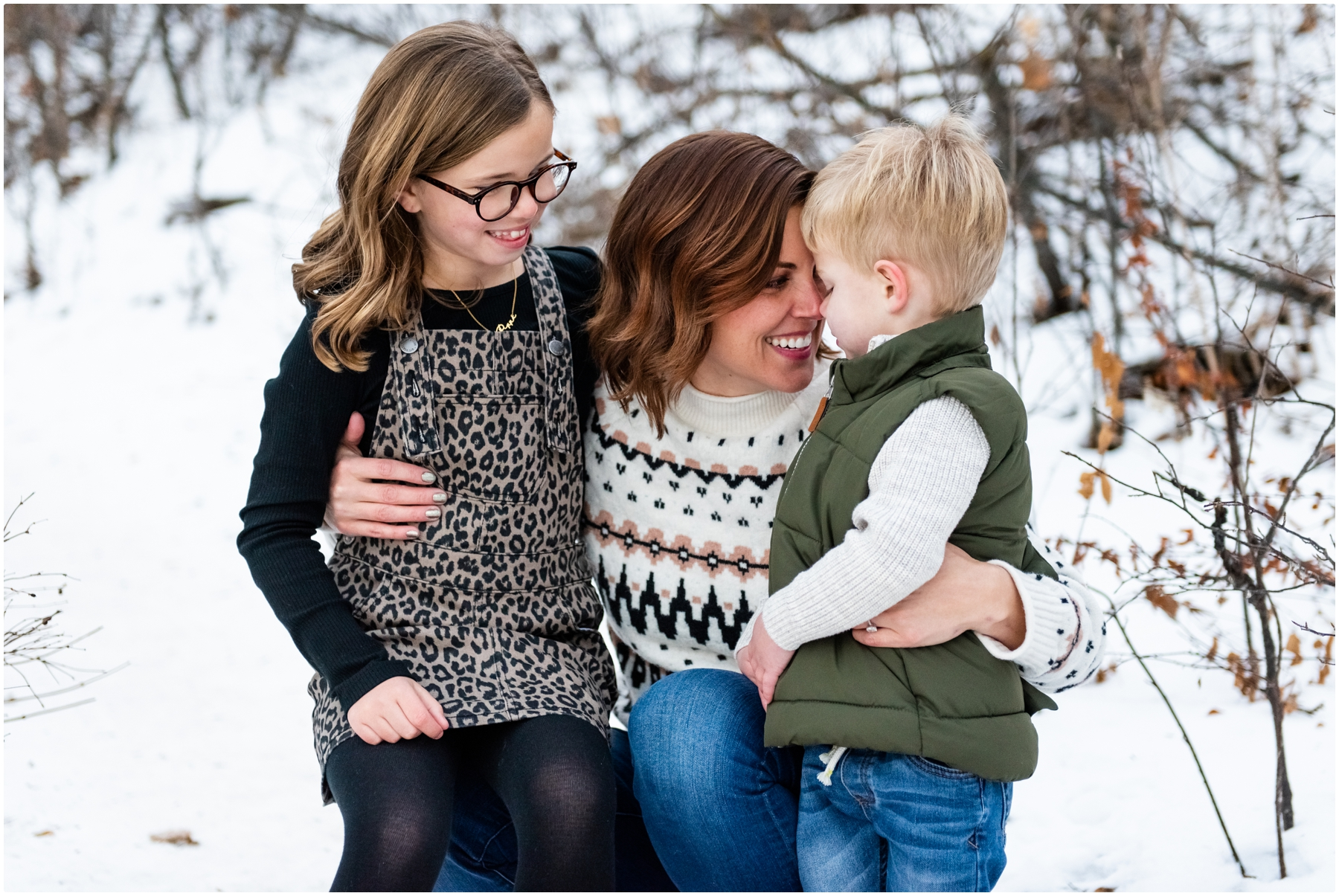 Edworthy Park Winter Calgary Family Photographer