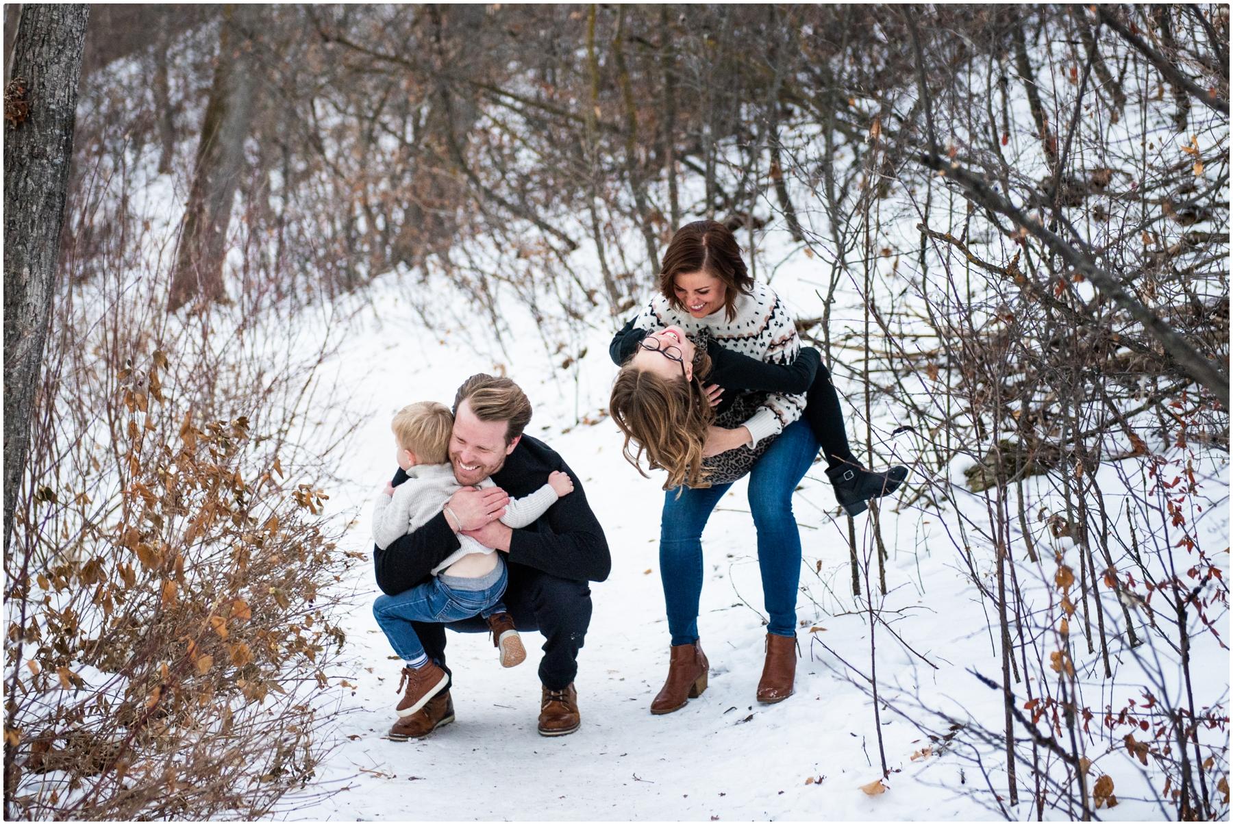 Edworthy Park Winter Calgary Family PhotographyEdworthy Park Winter Calgary Family Photography