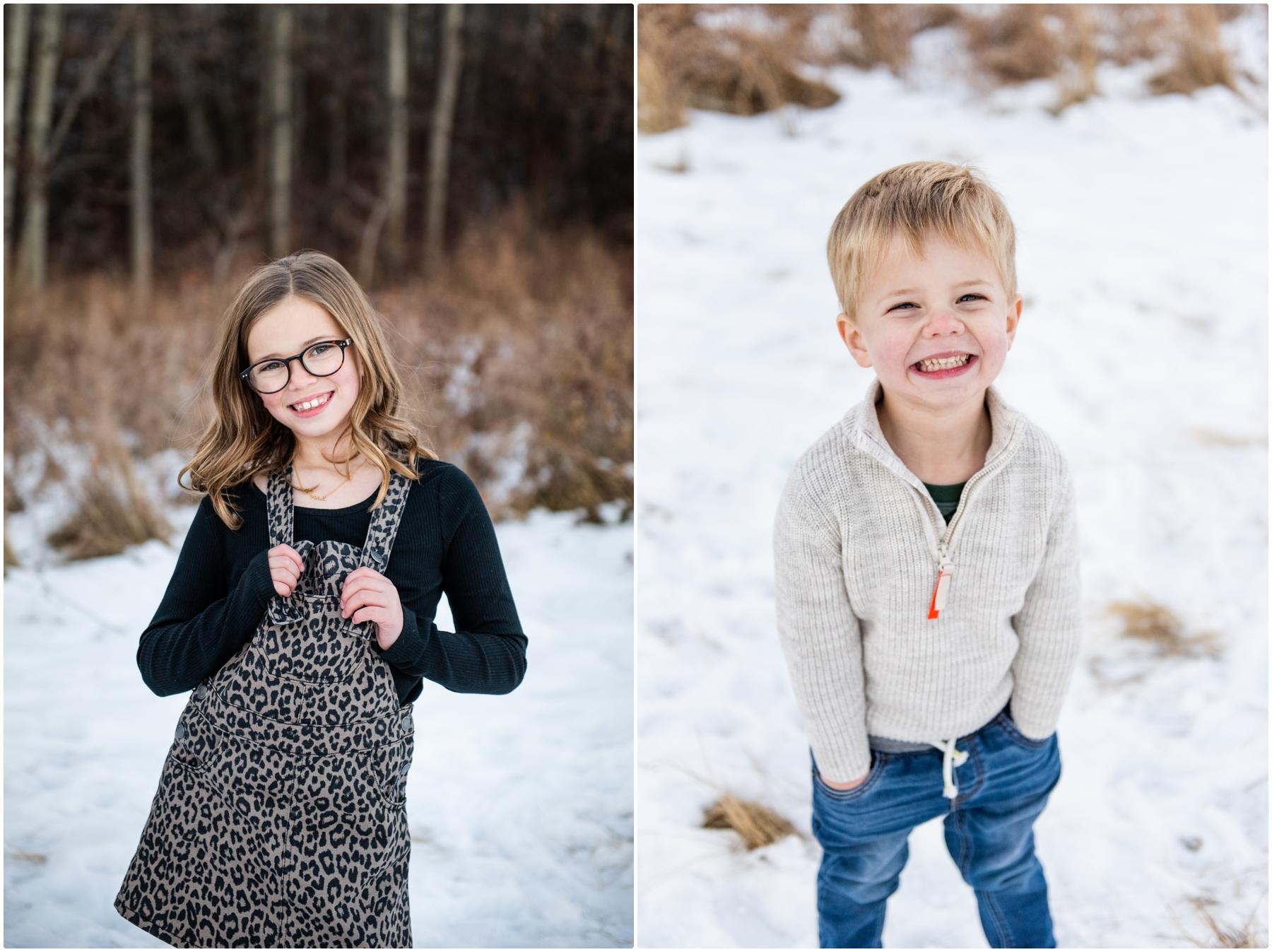 Winter Calgary Family Photo