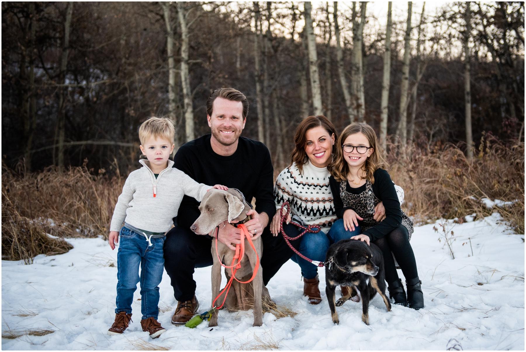 Winter Edworthy Park Family Photographer