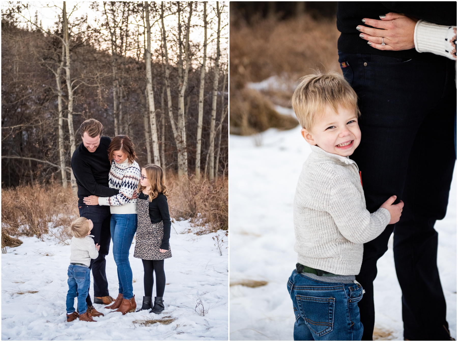Winter Edworthy Park Family Session