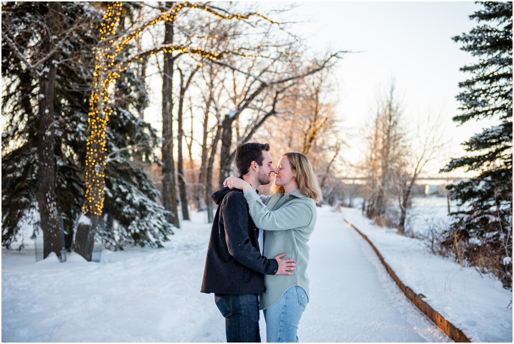 Bowness Park Skating Engagement Photography