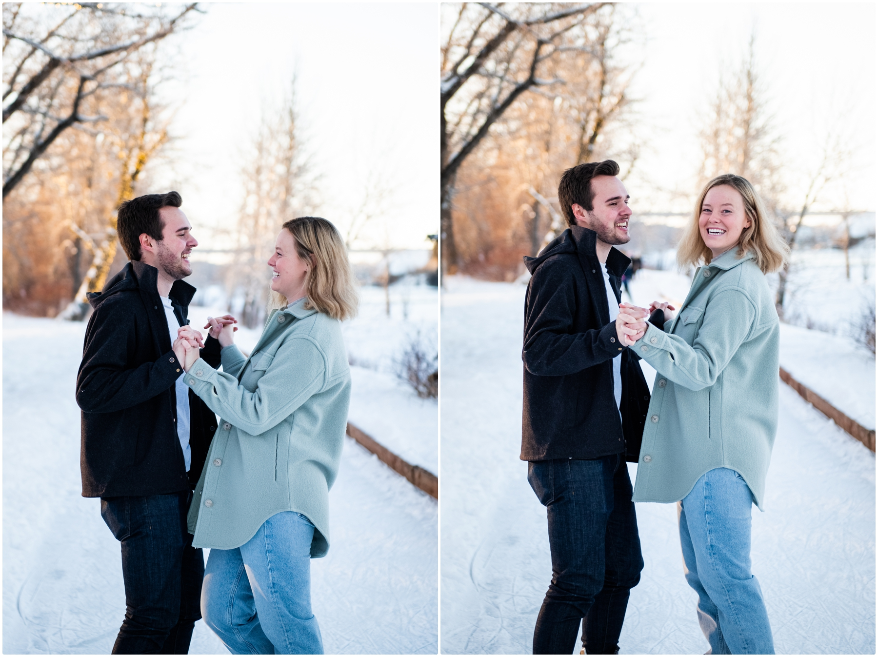 Bowness Park Skating Engagement Session