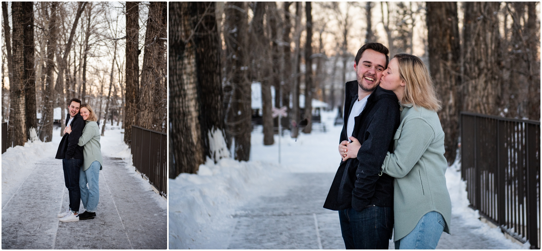 Calgary Bowness Park Skating Engagement Session