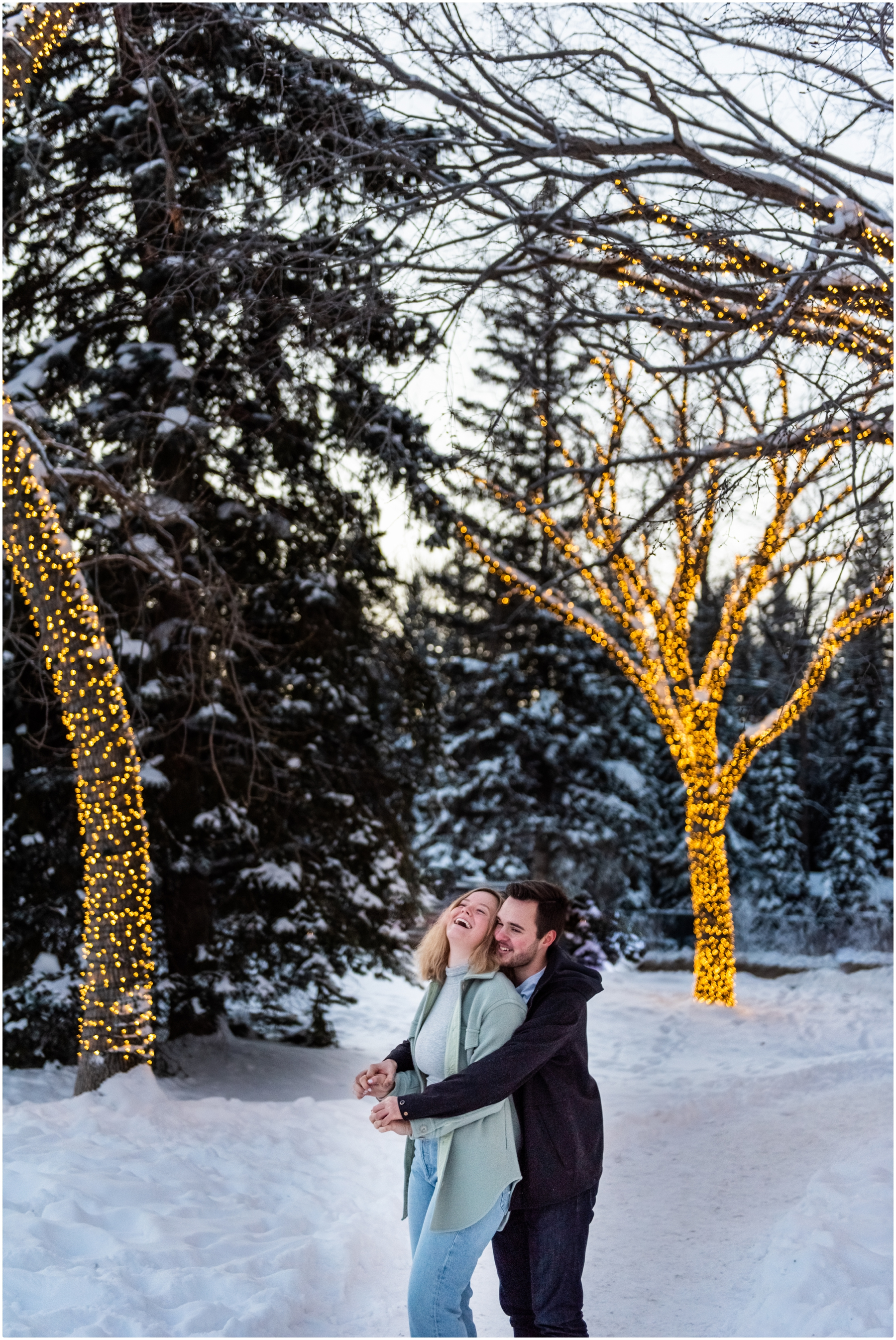 Calgary Bowness Park Winter Engagement Photographer