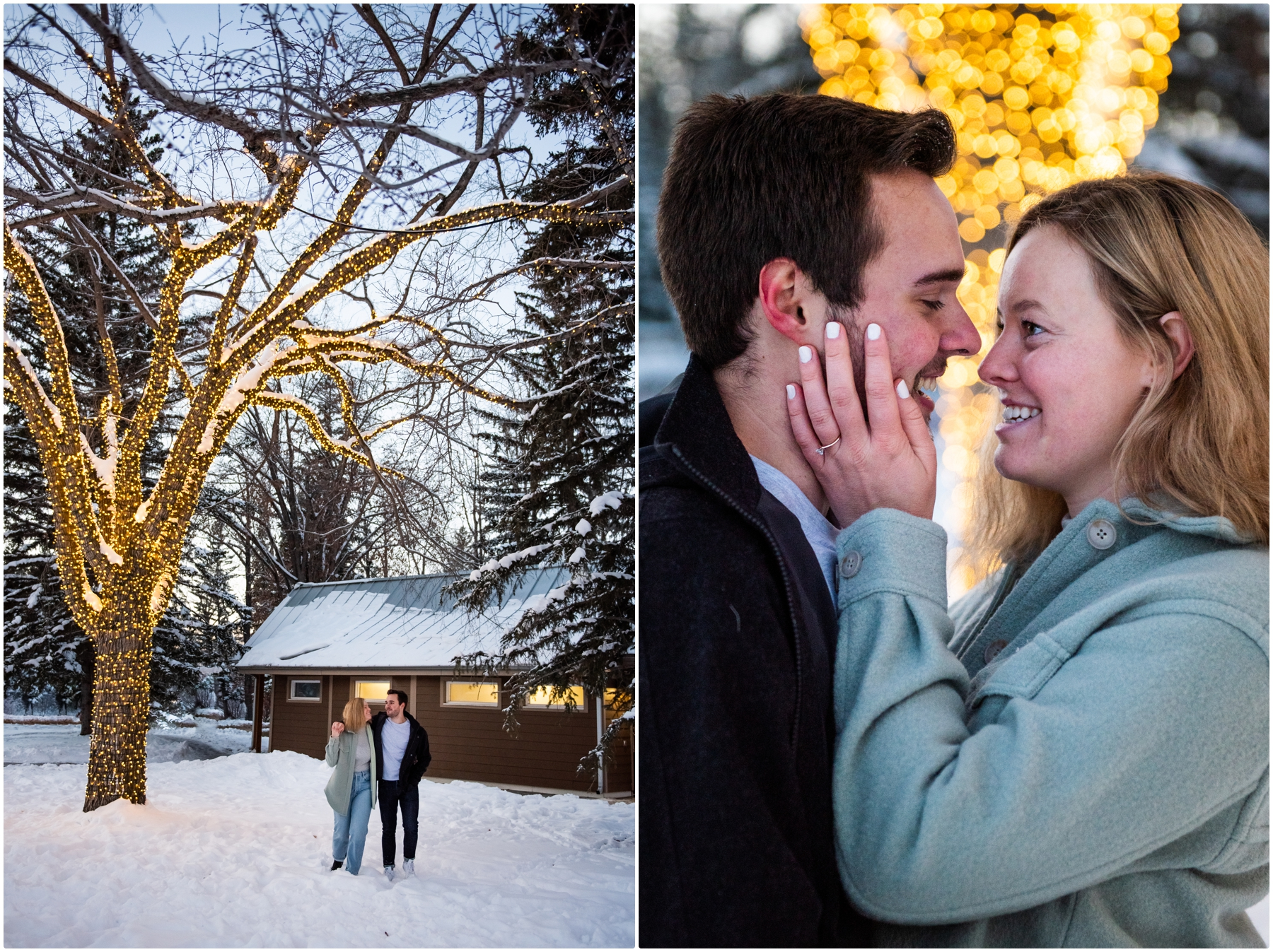 Calgary Bowness Park Winter Engagement Photographers