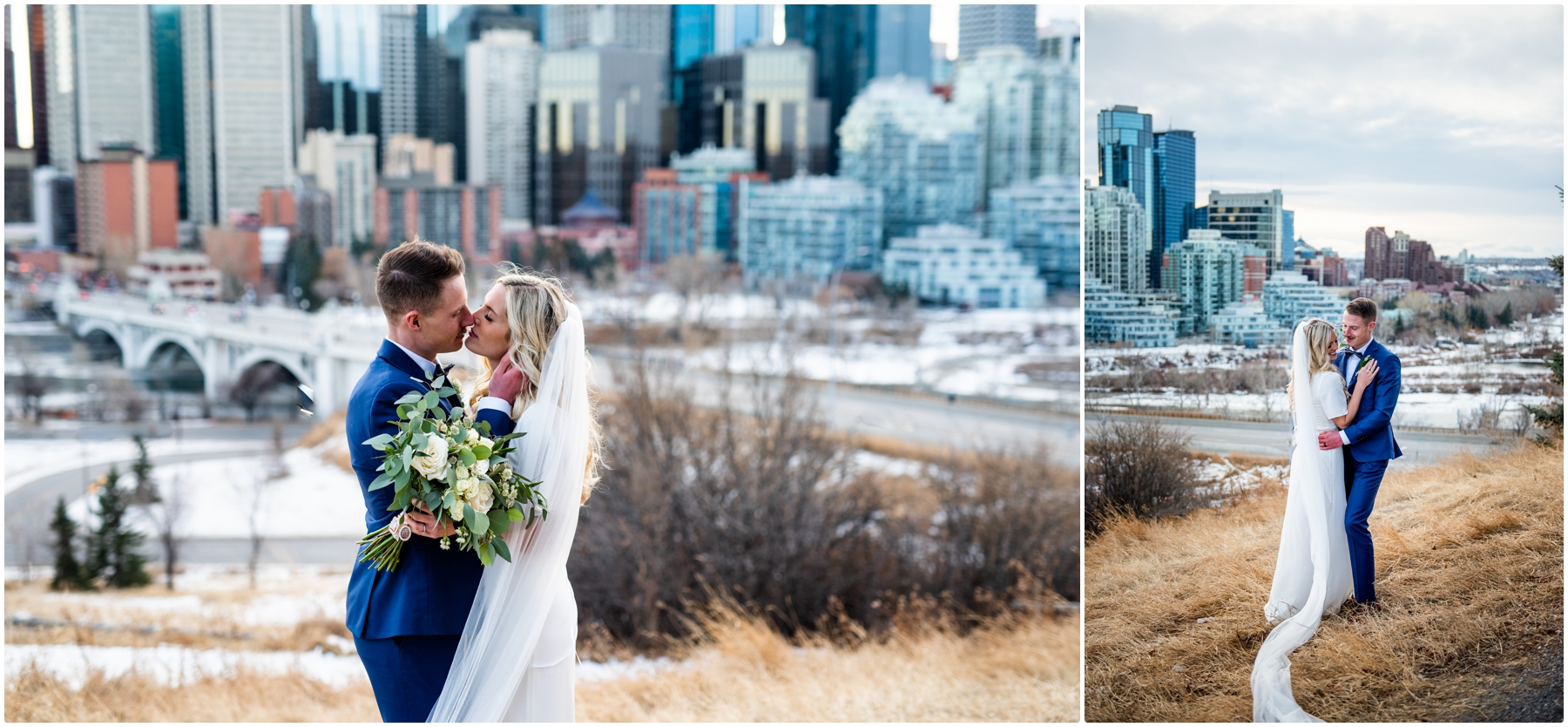 Calgary Skyline Wedding Photographers