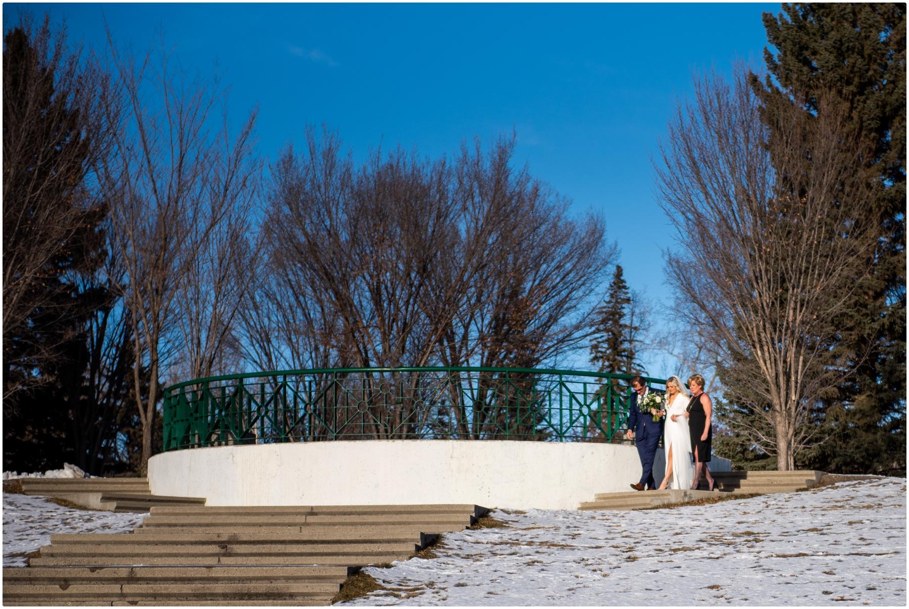 Calgary Winter Wedding Photographer - Baker Park
