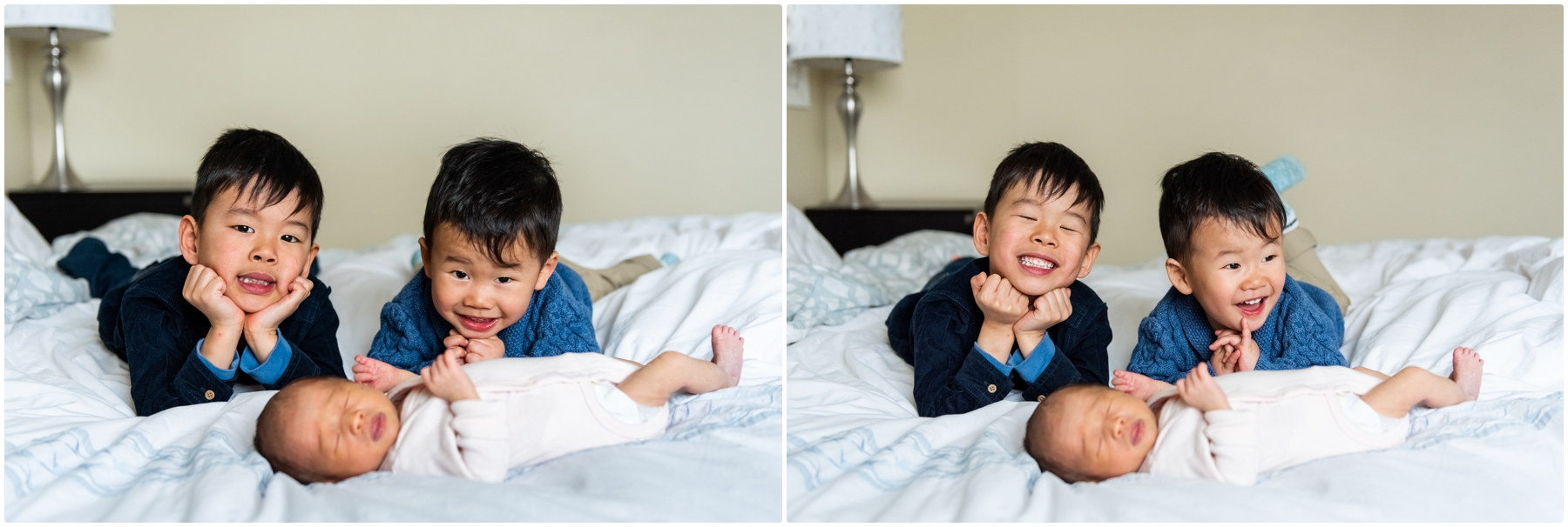 Family of 5 In Home Calgary Lifestyle Newborn Photographer