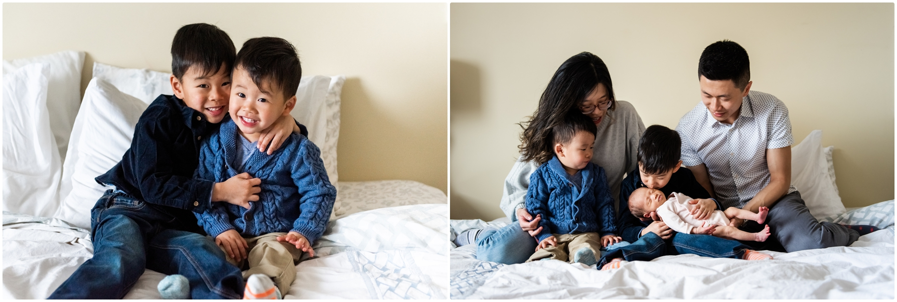 Family of 5 In Home Calgary Lifestyle Newborn Photos