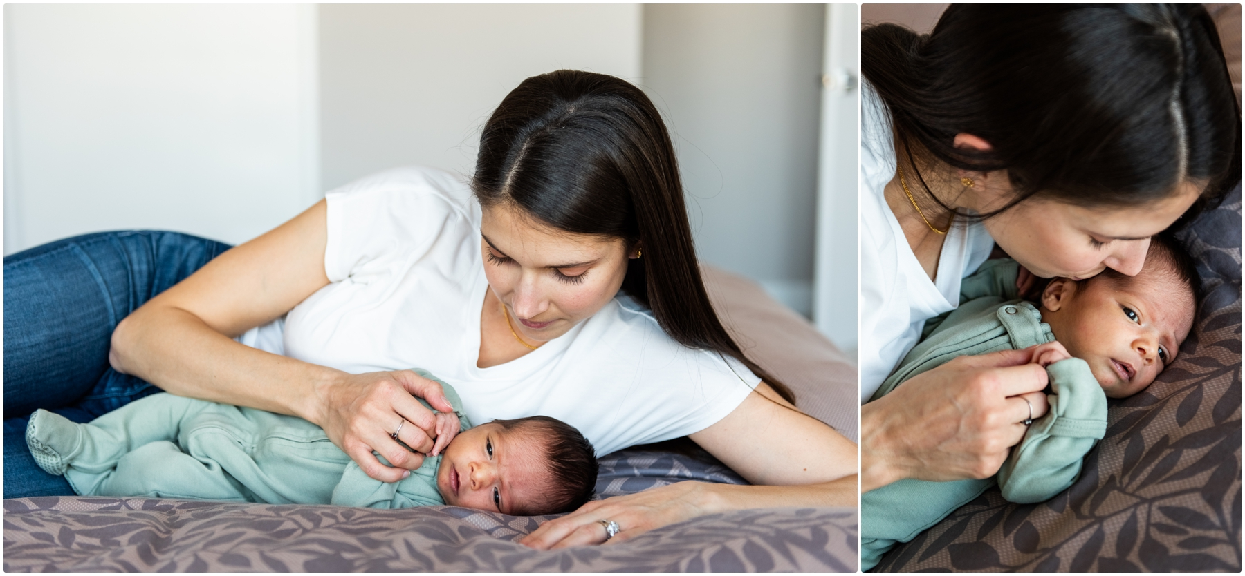 Lifestyle In Home Newborn Session Calgary