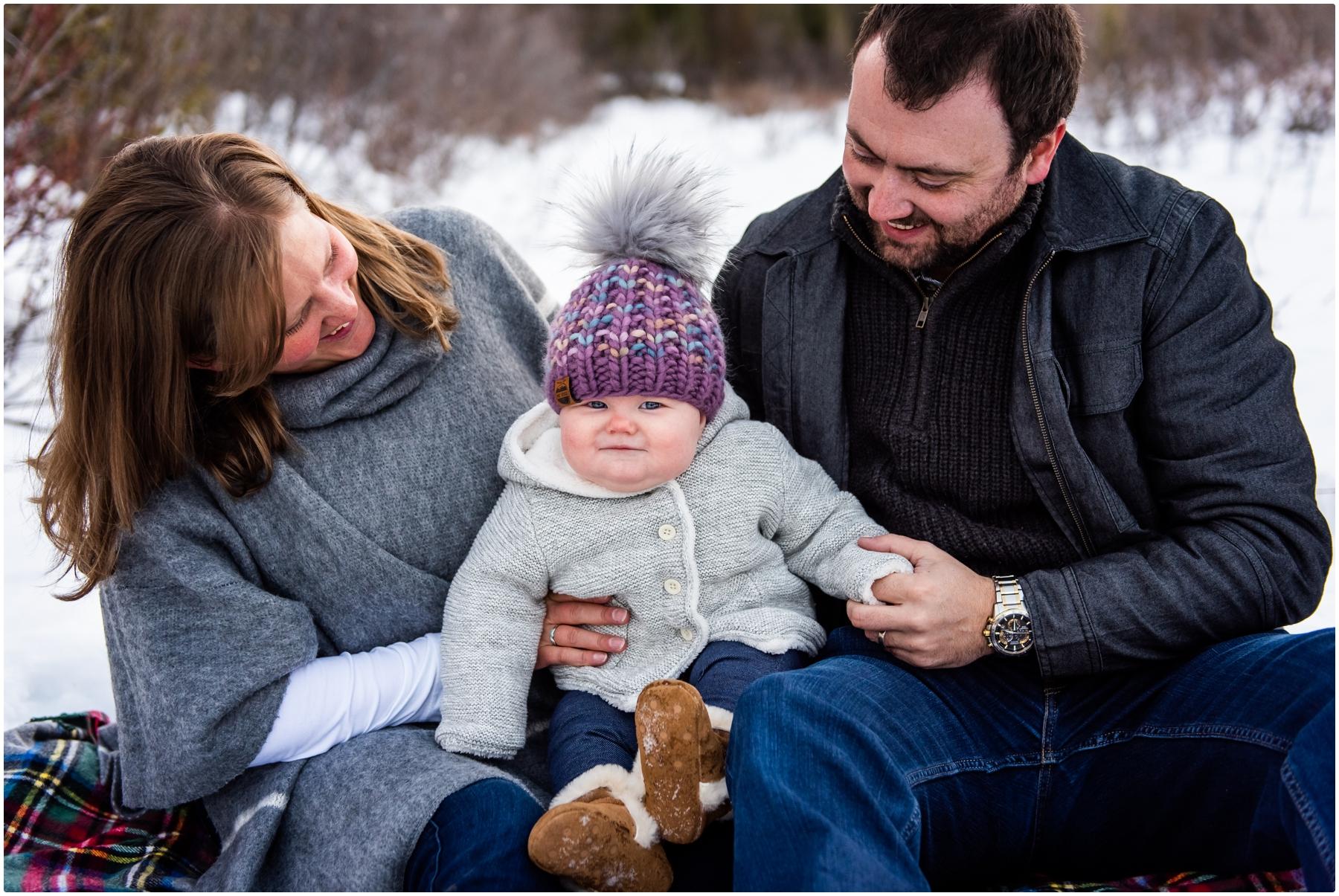 Rocky Mountain Winter Family Photos