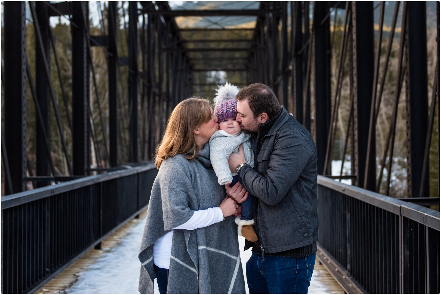 Winter Mountain Family Session Canmore