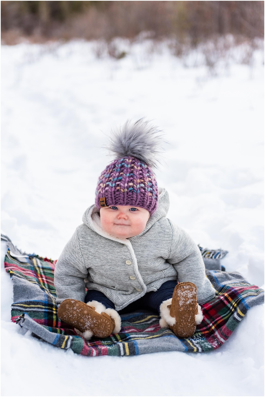 Winter Rocky Mountain Family Photographer