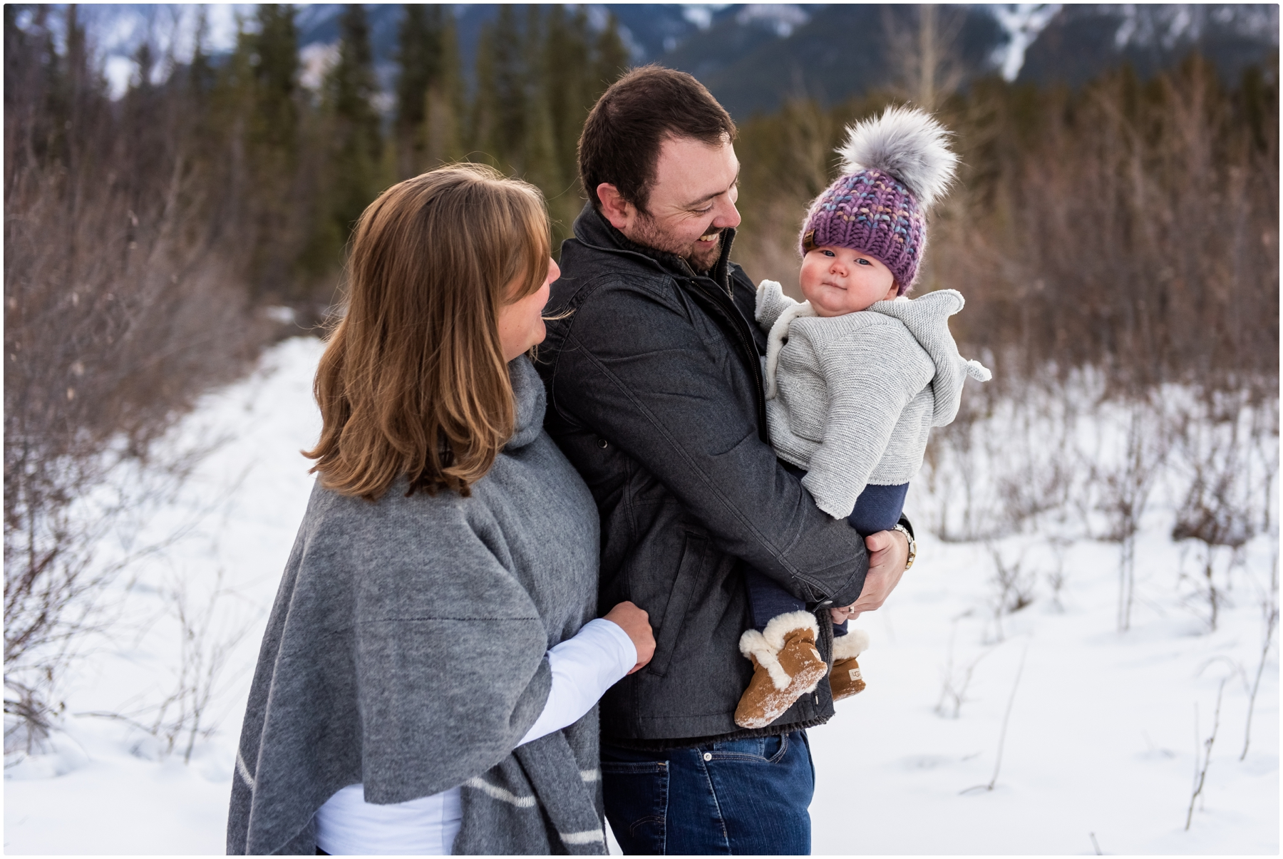 Winter Rocky Mountain Family Photography