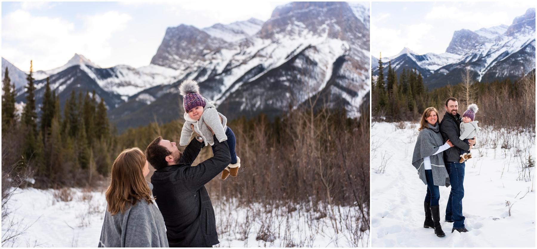 Winter Rocky Mountain Family Photos