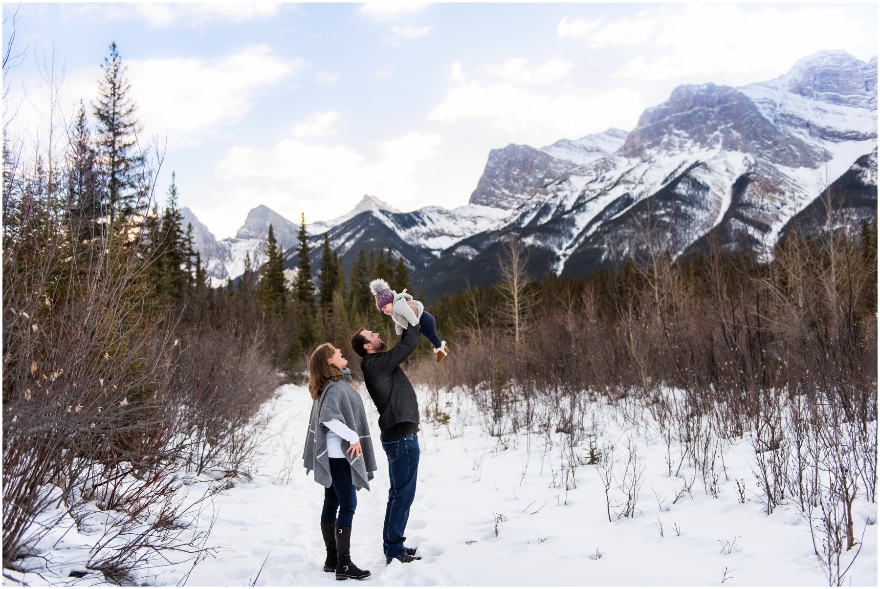 Winter Rocky Mountain Family Session