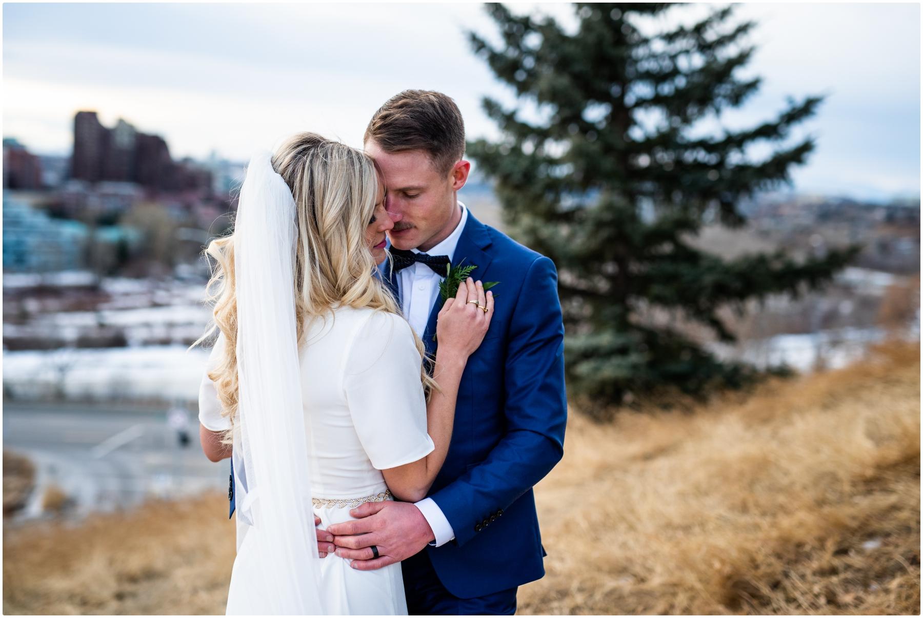 Winter Urban Wedding Photographer