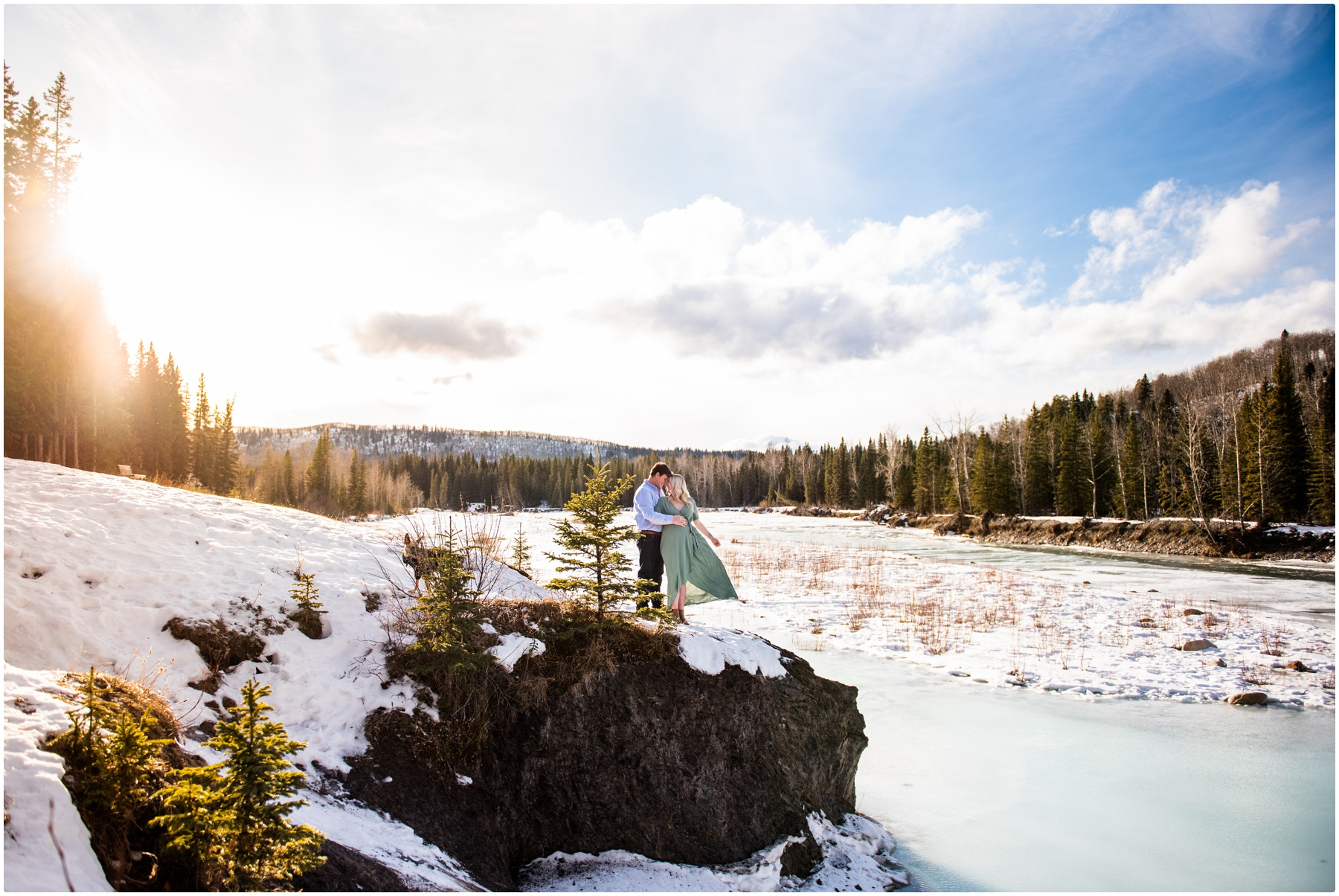 Bragg Creek Provincial Park Maternity Photographer