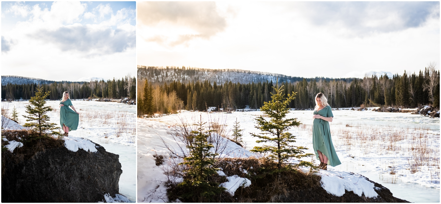 Bragg Creek Provincial Park Maternity Photographers