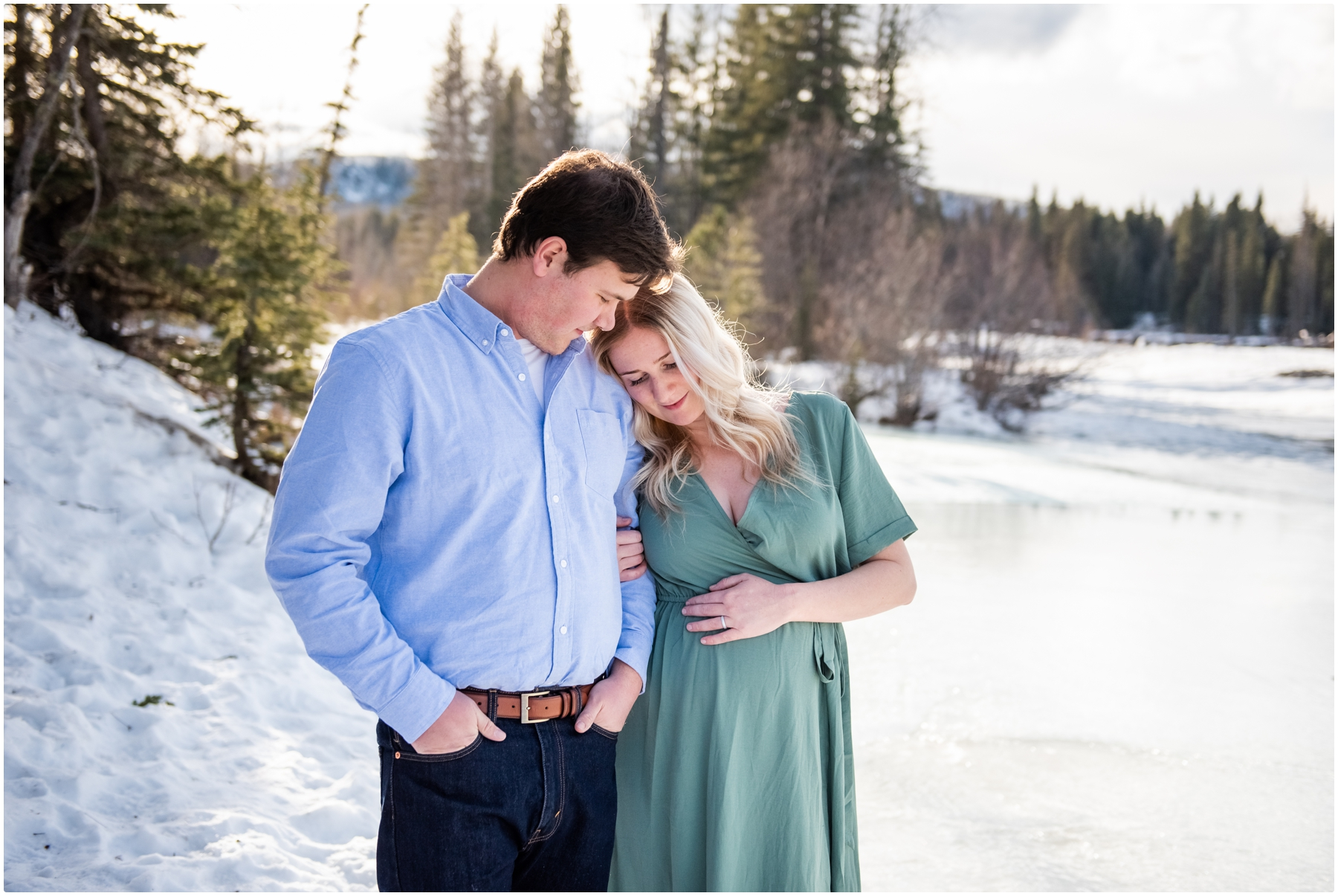 Bragg Creek Provincial Park Maternity Photography