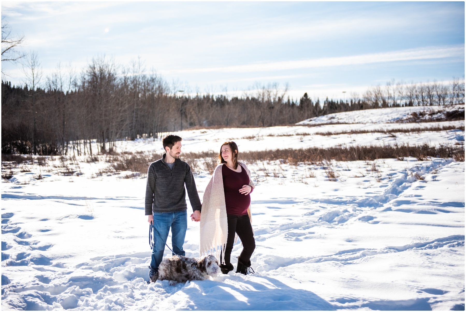 Calgary Fish Creek Park Winter Maternity Session