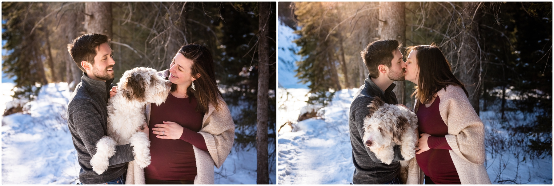 Calgary Winter Maternity Photographer Fish Creek Park