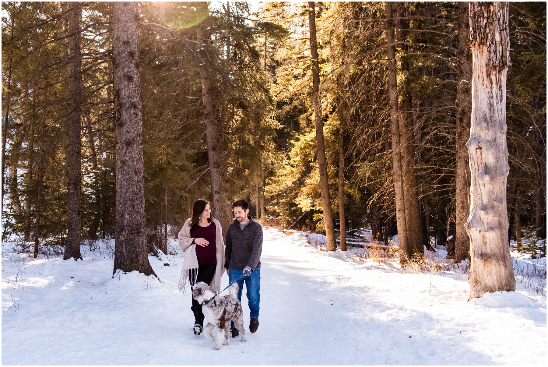 Calgary Winter Maternity Session Fish Creek Park
