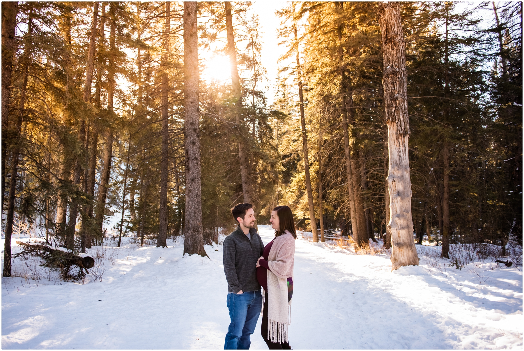 Calgary Winter Maternity Session