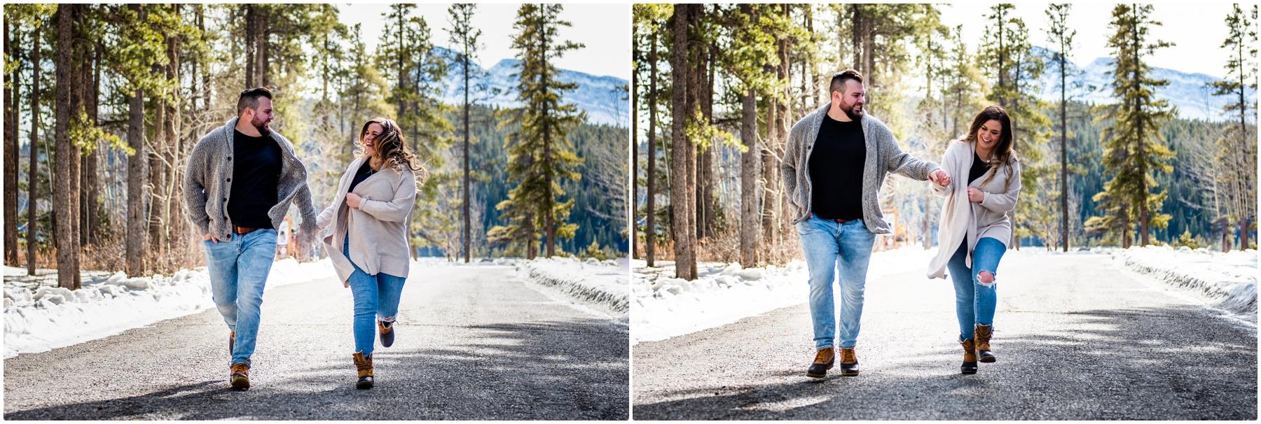 Banff Engagement Photographer - Lake Minniwanka