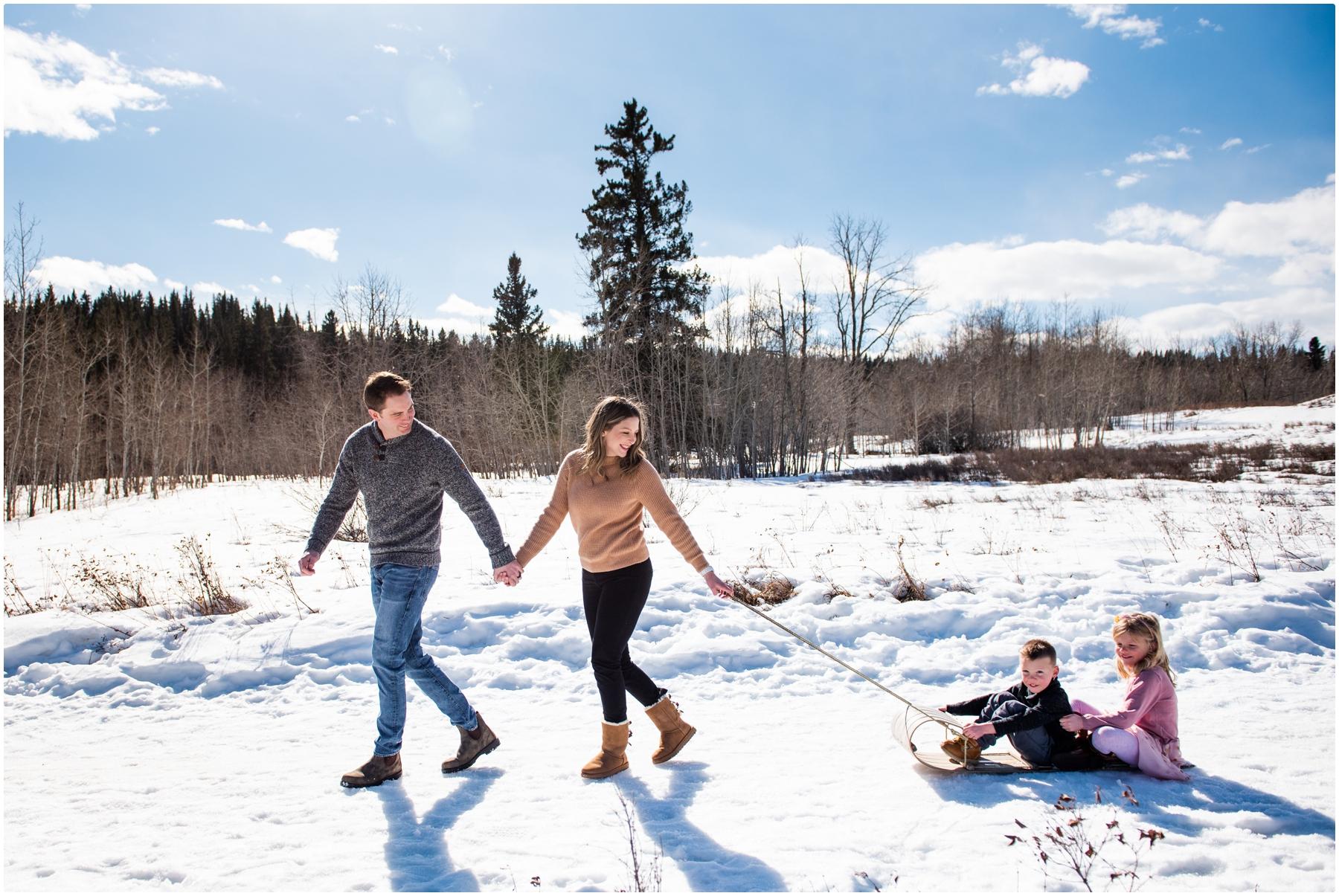 Calgary Alberta Winter Family Session
