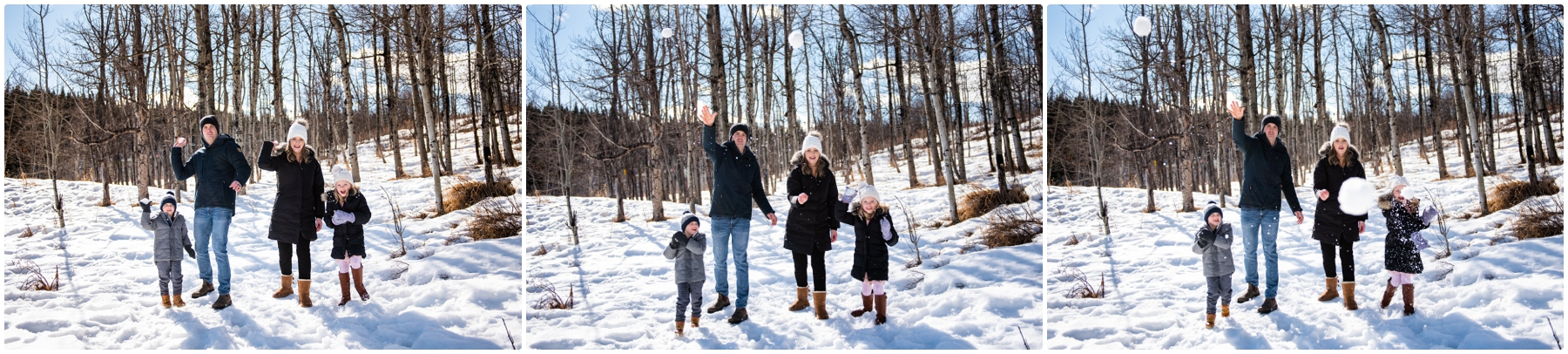 Calgary Snowball Fight Family Photos