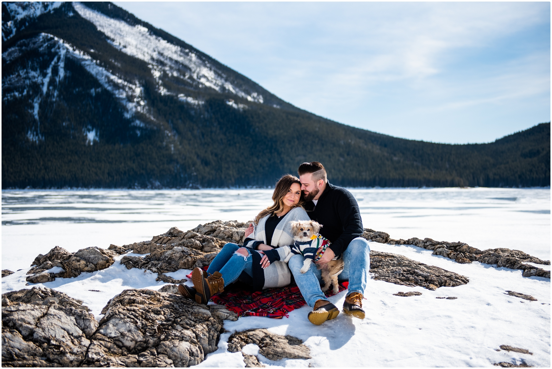 Lake Minniwanka Engagement Photography Banff