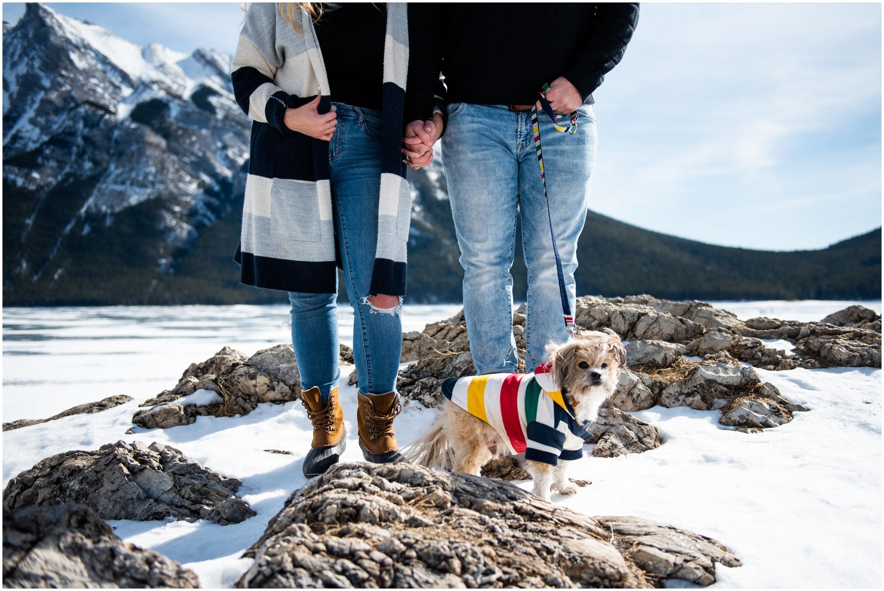 Lake Minniwanka Engagement Photos Banff