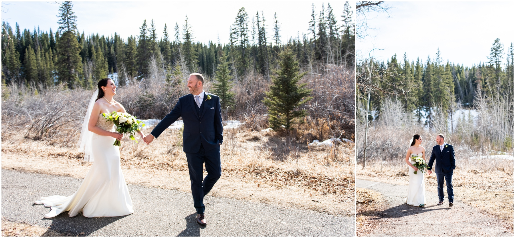 Calgary Alberta Spring Fish Creek Park Wedding Photographer