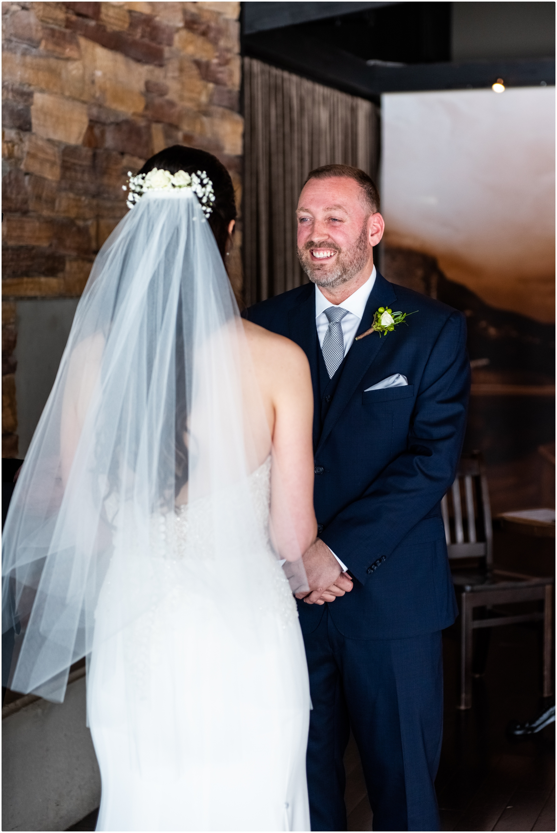 Calgary The Lake House Restaurant Micro Wedding Ceremony Photographer