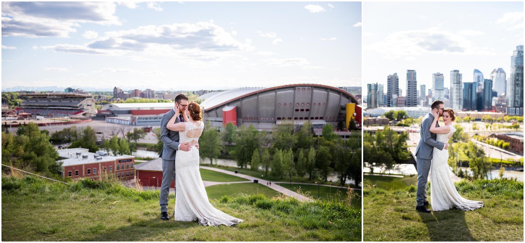 Calgary Skyline Wedding Photographer