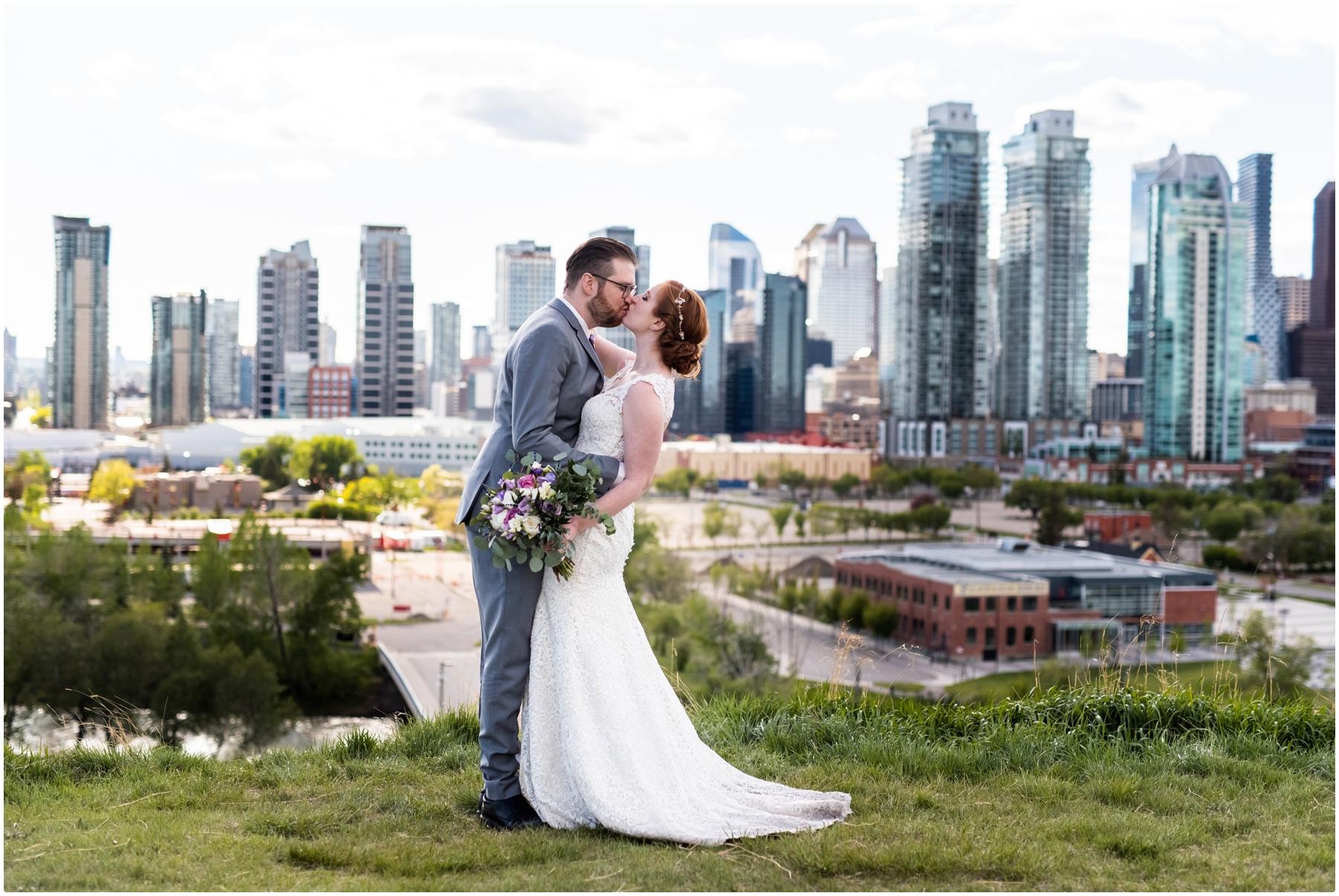 Calgary Skyline Wedding Photography