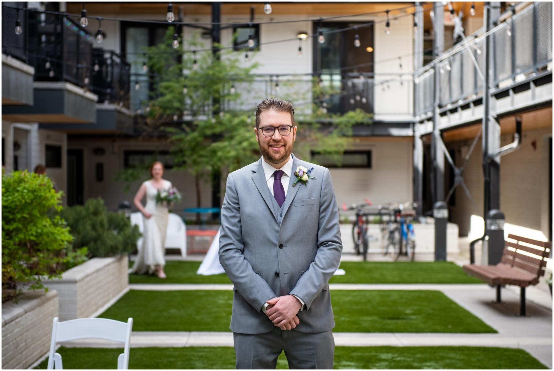 Calgary Urban Intimate Wedding Photos